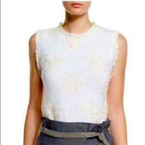 Brunello Cucinelli Layered Lace/Cotton Top